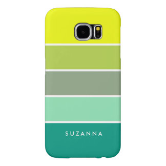 Shades of Green Color Palette 001 Samsung Galaxy S6 Cases
