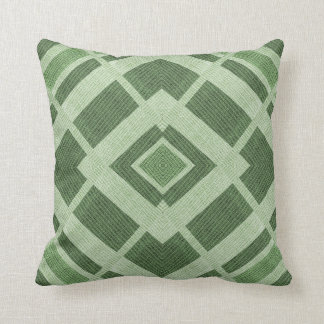 Shades of Green Faux Burlap Pattern Cushion