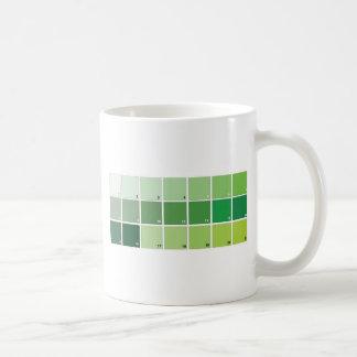 Shades of Green Grid Coffee Mug