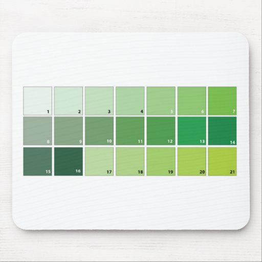 Shades of Green Grid Mouse Pad