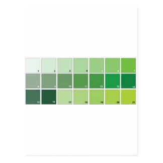 Shades of Green Grid Postcard