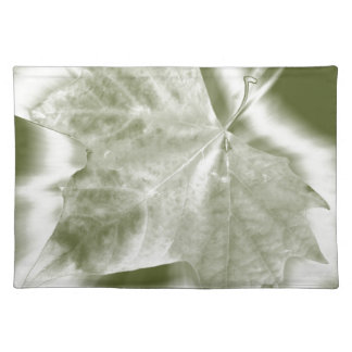 shades of green placemat
