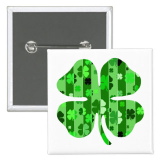 shades of green shamrock striped png button