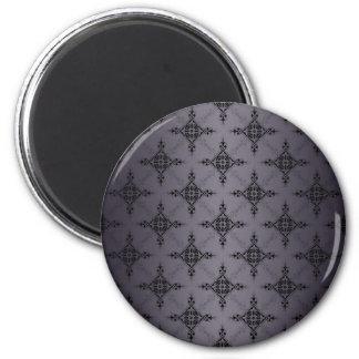 Shades of Grey Damask Pattern Magnet