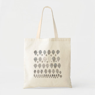 Shades of Grey Diamonds Abstract Art Design Tote Bags