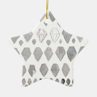 Shades of Grey Diamonds Abstract Art Design Christmas Tree Ornament
