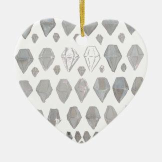 Shades of Grey Diamonds Abstract Art Design Ornament