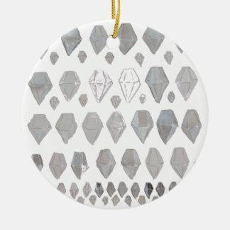 Shades of Grey Diamonds Abstract Art Design Christmas Ornament