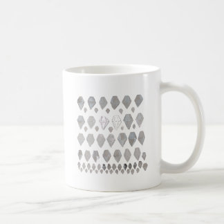 Shades of Grey Diamonds Abstract Art Design Mug