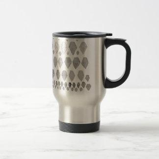 Shades of Grey Diamonds Abstract Art Design Mugs