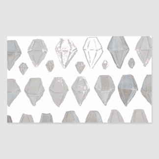 Shades of Grey Diamonds Abstract Art Design Sticker