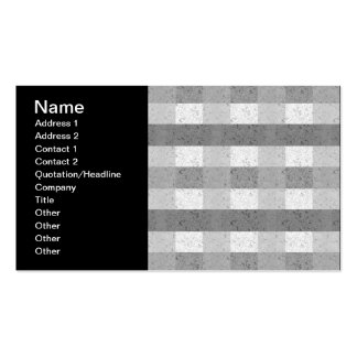 Shades of Grey Plaid Business Card Template