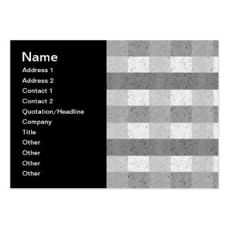 Shades of Grey Plaid Pack Of Chubby Business Cards