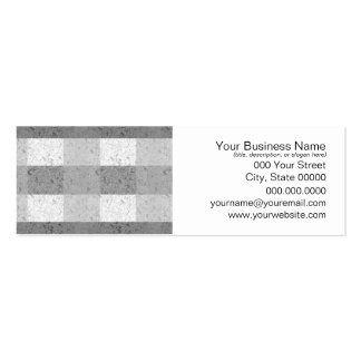 Shades of Grey Plaid Pack Of Skinny Business Cards