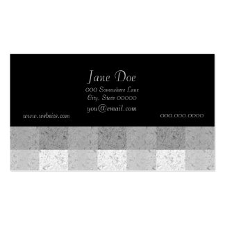 Shades of Grey Plaid Pack Of Standard Business Cards