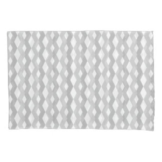 Shades of Grey Zig Zag Pair of Pillow Cases