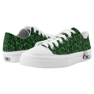 Shades Of Hunter Green Printed Shoes