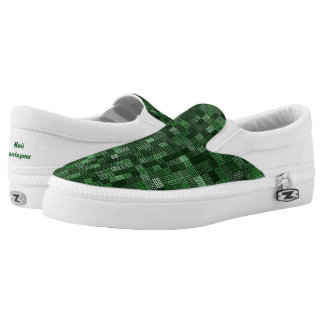 Shades Of Hunter Green Slip On Shoes