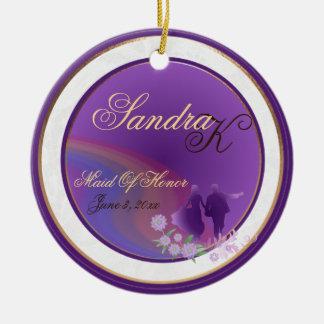 Shades of Lavender Maid of Honor Keepsake Ornament