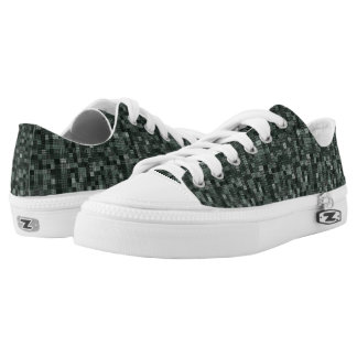 Shades Of Midnight Green Low Tops