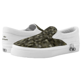 Shades Of Moss Green Slip On Shoes