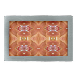Shades Of Orange Peach  Modern Festive Design Belt Buckles