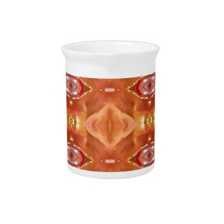 Shades Of Orange Peach  Modern Festive Design Pitcher