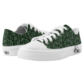 Shades Of Pine Green Low Tops