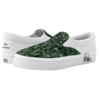 Shades Of Pine Green Slip On Shoes