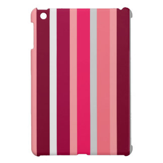 Shades of Pink and Gray Stripes iPad mini Case
