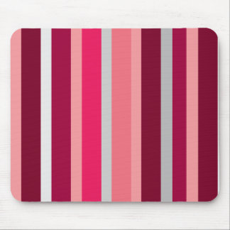 Shades of Pink and Gray Stripes Mouse Pad