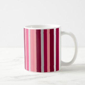 Shades of Pink and Gray Stripes Mug