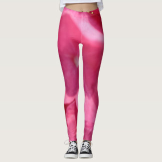 Shades of Pink Flowers Floral Photography Leggings