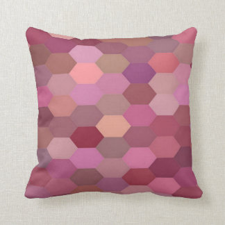 Shades of Pink Hexagon Pillow