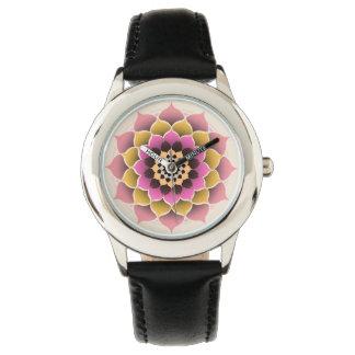 Shades of Pink Mandala Design Wrist Watches