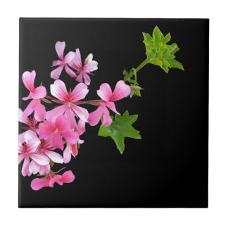 shades of pink on black small square tile
