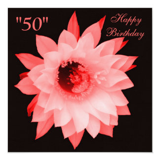 SHADES OF PINK RED FLORAL BLOOM INVITATION