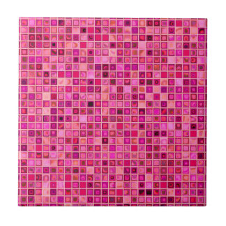 Shades Of Pink 'Watery' Mosaic Tile Pattern