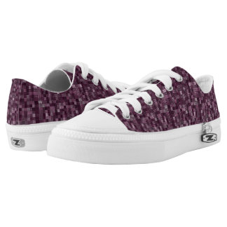 Shades Of Plum Printed Shoes