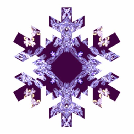 Shades of Purple Fractal Art Snowflake Cut Out