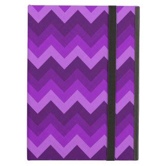 Shades of Purple LG Hombre Chevron ZigZag Pattern iPad Air Case