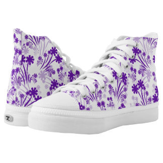 Shades Of Purple Printed Shoes