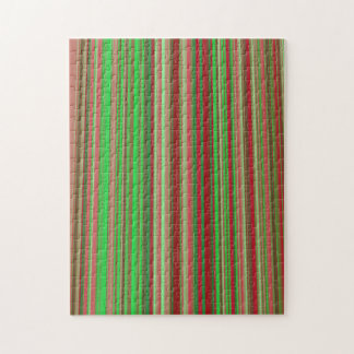 Shades of Red and Green Jigsaw Puzzle
