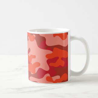 Shades of Red Camouflage Coffee Mug