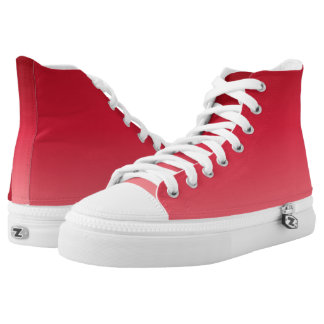 Shades of Red Gradient High Tops