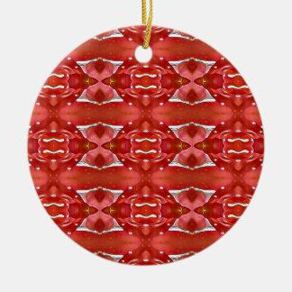 Shades Of Red Modern Festive Design Ceramic Ornament