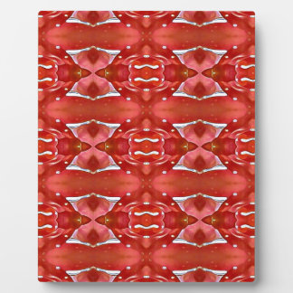 Shades Of Red Modern Festive Design Plaque