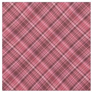 Shades of red tartan fabric
