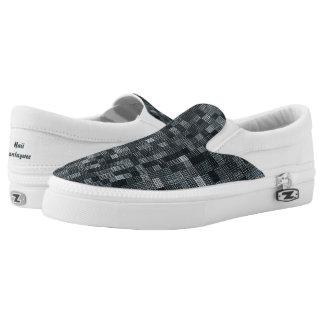Shades Of Slate Slip On Shoes