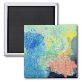 Shades of Sleep (pastel on paper Square Magnet